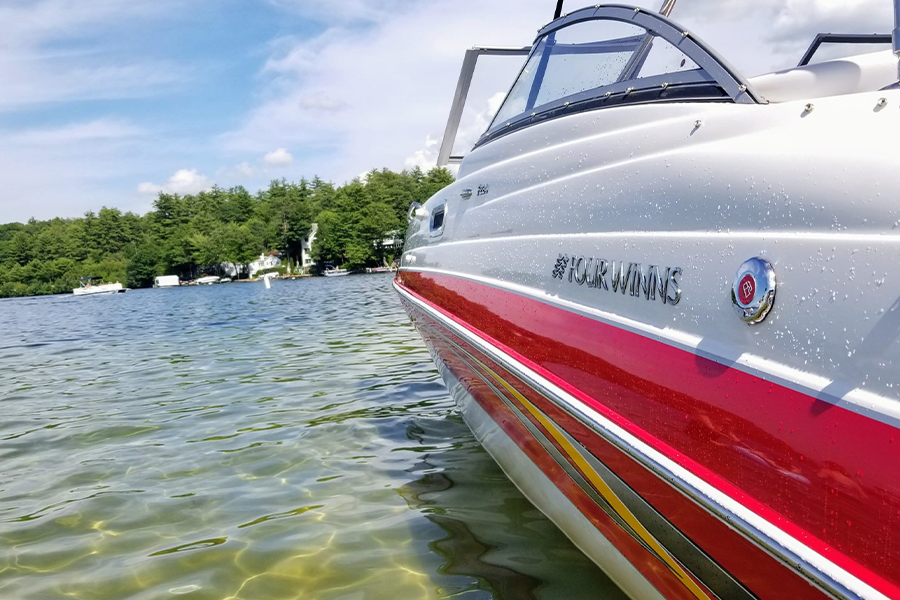 Personal Insurance - Closeup View of Boat on the Water at a Lake in Laconia, New Hampshire
